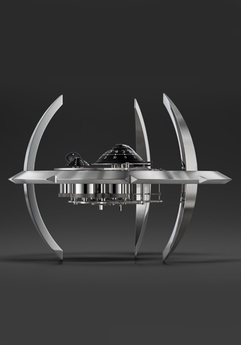 MB&F 和 L'Epée 的星际战舰座钟 The Starfleet Machine
