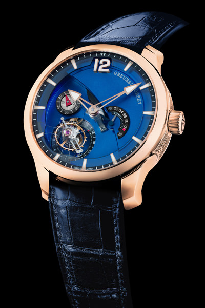 2013年 SIHH 新品预览——高珀富斯(Greubel Forsey) Tourbillon 24 Seconds Contemporain 5N红金款式
