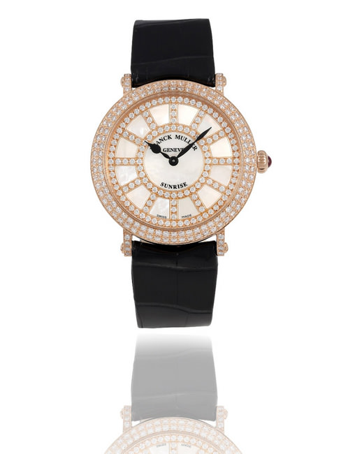FRANCK MULLER New Round Sunrise in 18K Rose Gold with diamonds