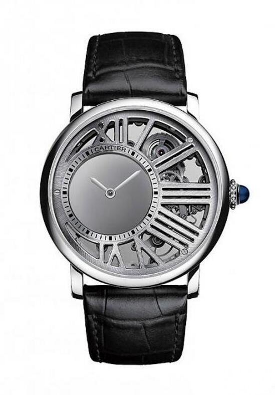 Rotonde de Cartier Skeleton Mysterious Hour Watch