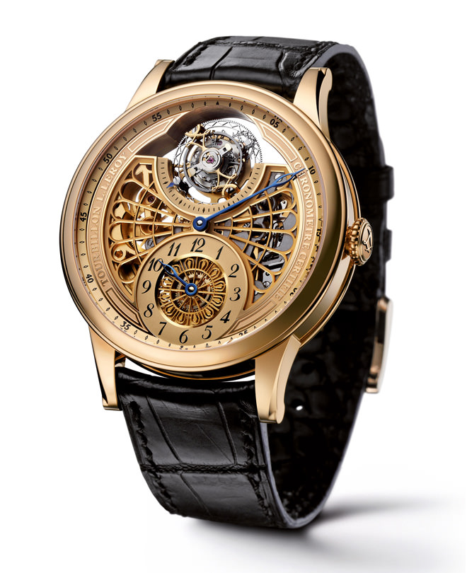 Automatic Tourbillon Regulator by L. Leroy