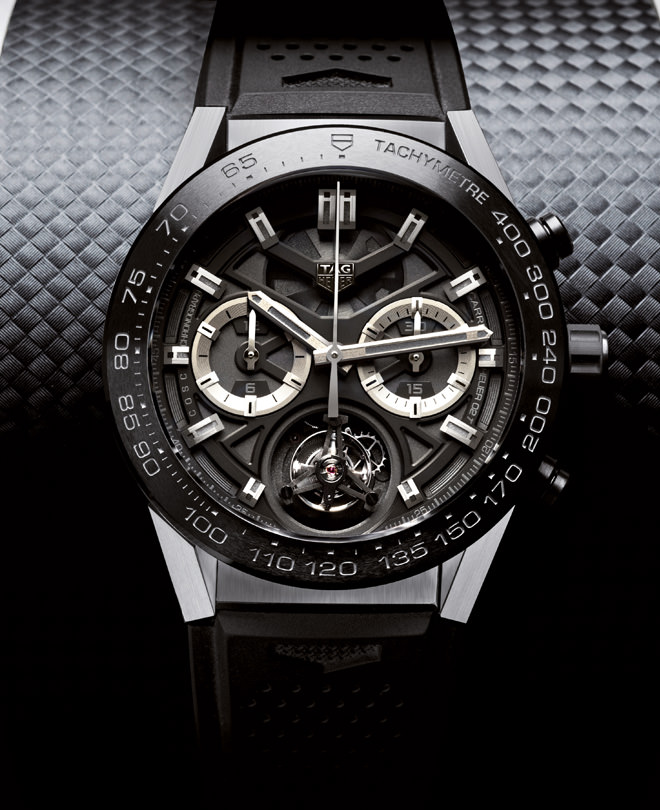 TAG Heuer 泰格豪雅 Carrera Heuer-02T Black Phantom 陀飞轮腕表