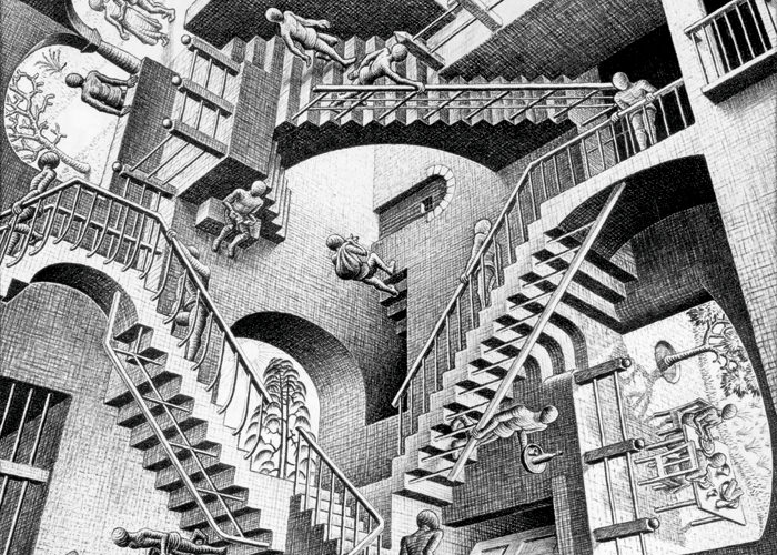 Relativity by M.C. Escher (1953)